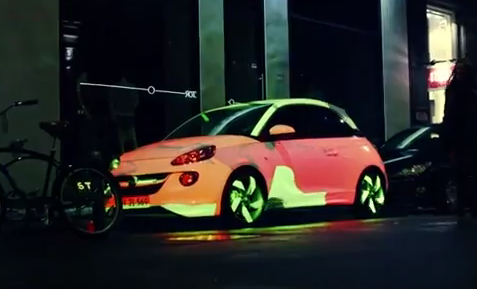 Opel Adam — The Color Changing Car